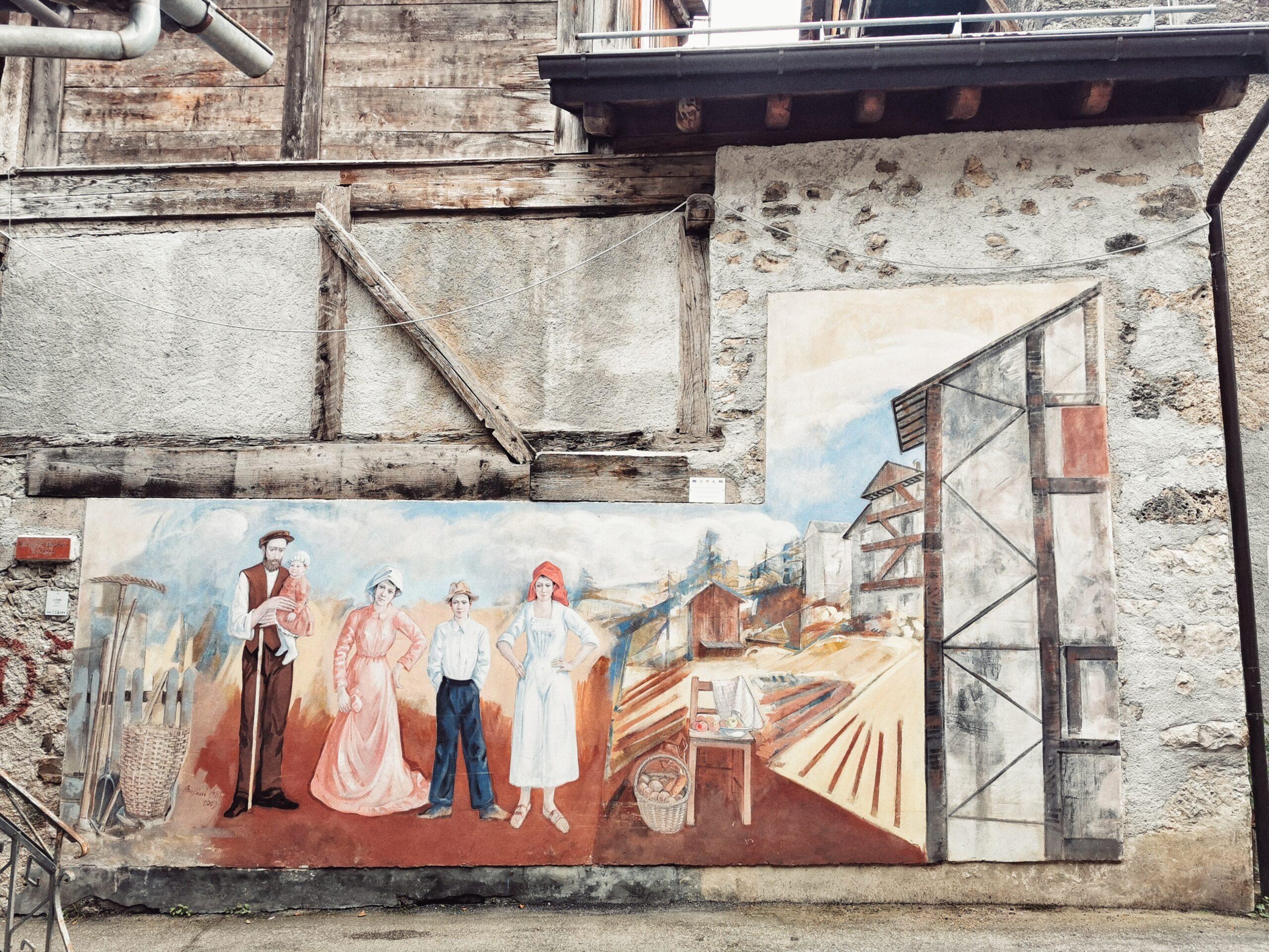 cibiana di cadore murales